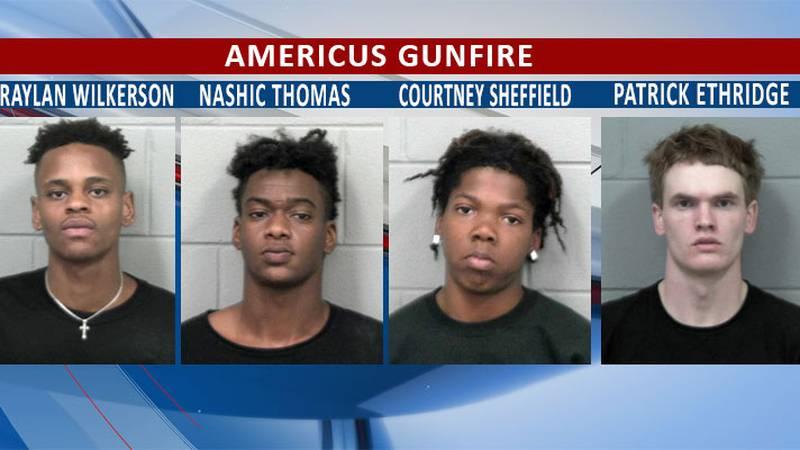 The four suspects were still in jail Wednesday