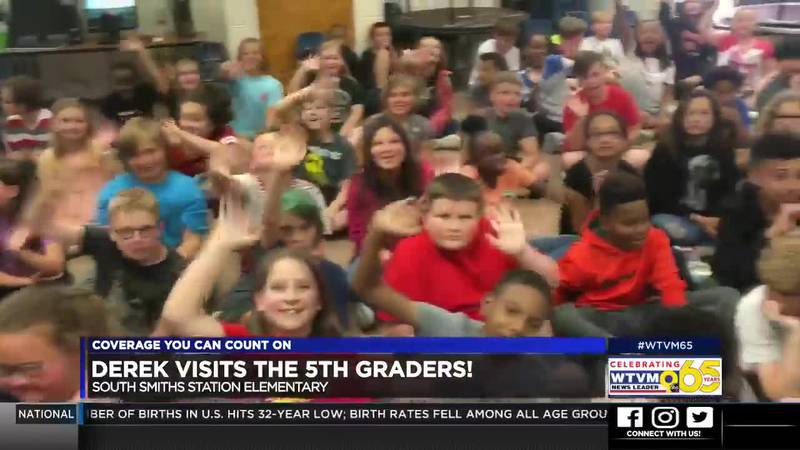 Derek Visits the 5th Graders at South Smiths Station Elementary!