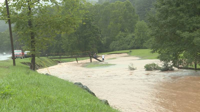 Heavy rain caused flooding in parts of Braxton County on Wednesday morning.