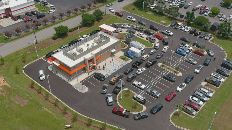 The drive-thru line was wrapped around the building for Whataburger's opening day.