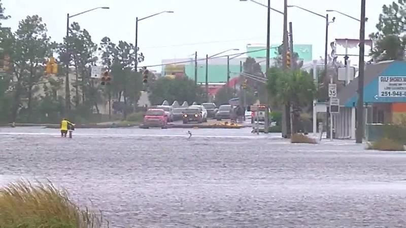 Damage in Gulf Shores and Orange Beach