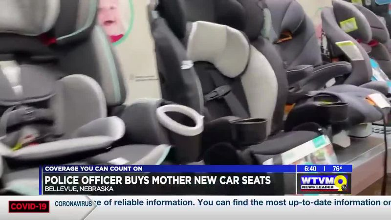 Power of Goodwill: Nebraska police officer buys car seats for mother of three