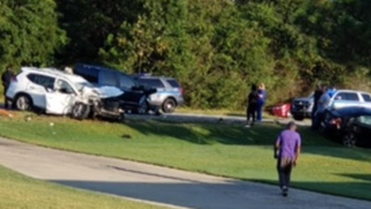 Police on scene of wreck on Hwy. 165 in Phenix City