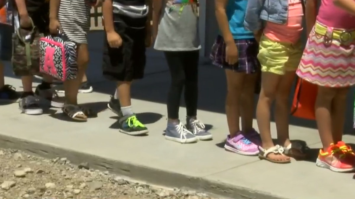 Students' first day back to school in the Vail School District