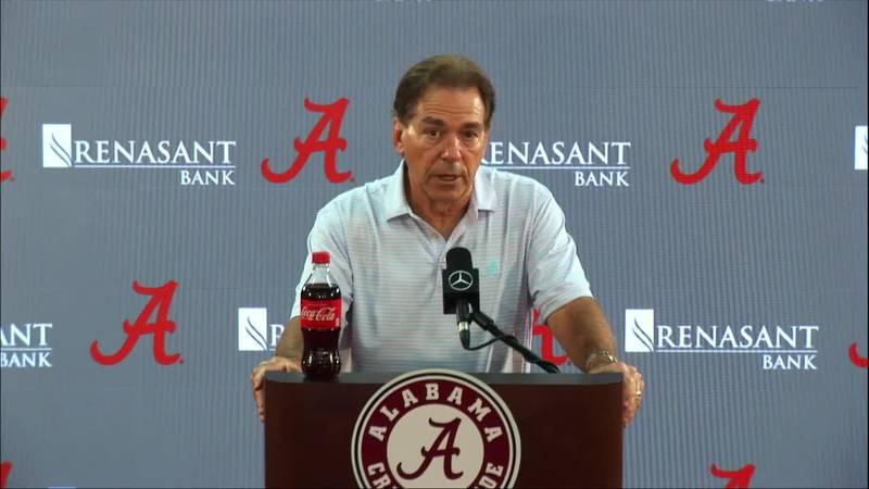 Alabama Football Coach Nick Saban