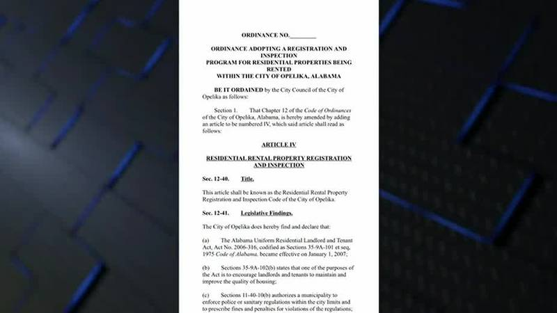 Opelika City Council passes rental ordinance, rental property to be registered with city