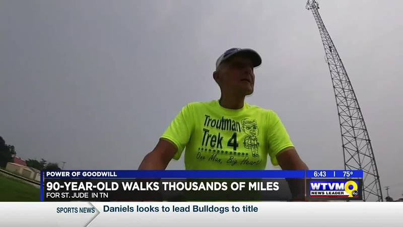 Power of Goodwill: 90-year-old walks thousands of miles