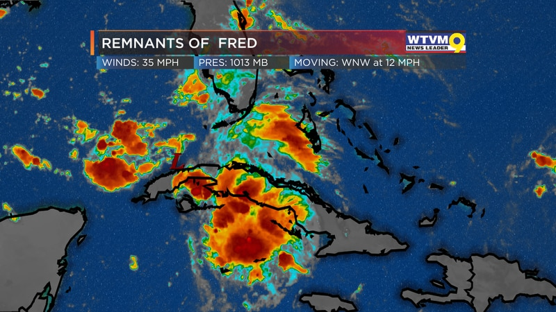 Fred Loses Closed Center of Circulation
