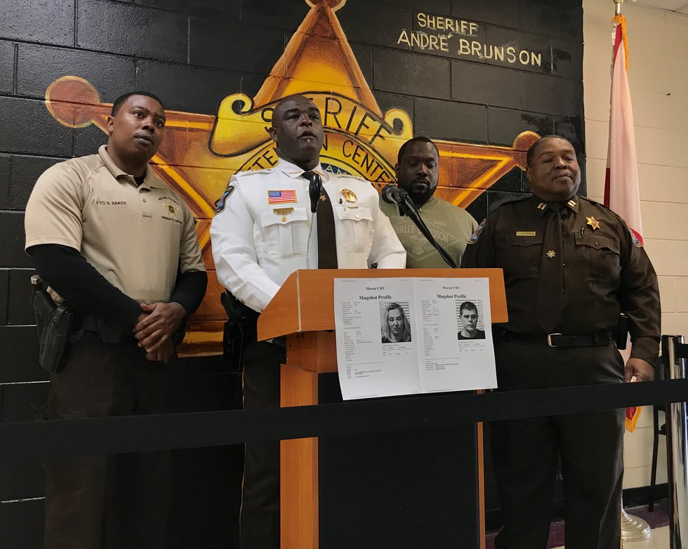 Macon County Sheriff Andre Brunson discusses the arrests of June Shannon, aka 'Mama June', and...