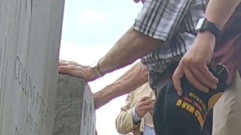 Veteran honors man who saved his life in World War II.