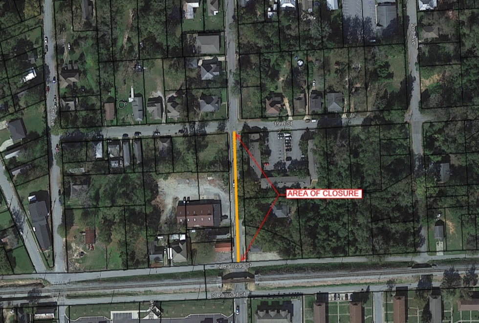 4th Ave Closure Map