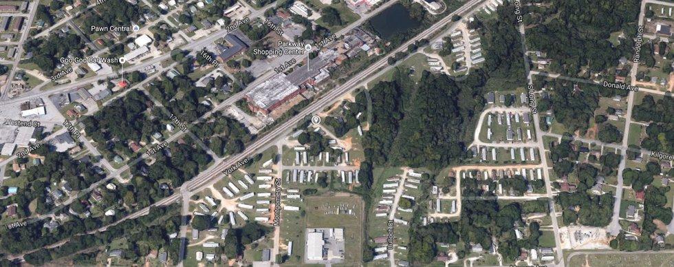 Bennett Mobile Home Park on York Ave. (Source: Google Maps)