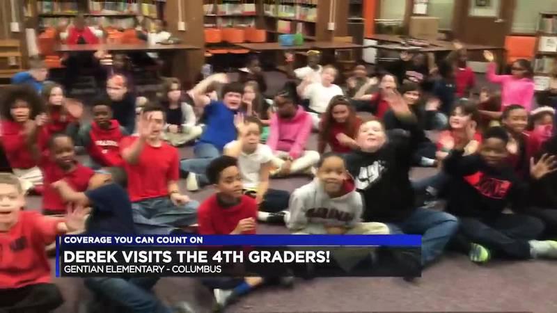 Derek Visits the 4th Graders at Gentian Elementary!