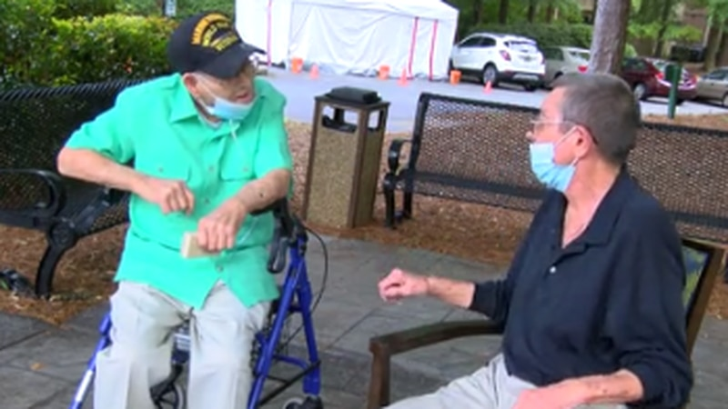 MILITARY MATTERS: Columbus man gives medal to 99-year-old singing WWII vet