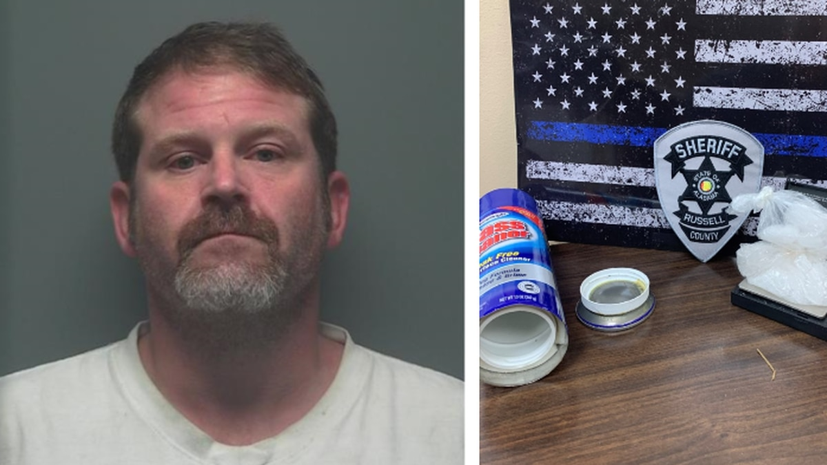 Jonathan Thomas, charged with trafficking meth in Russell County