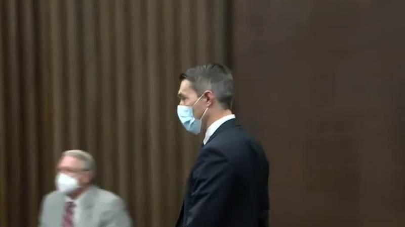 Suspended DA Mark Jones pleads not guilty during arraignment