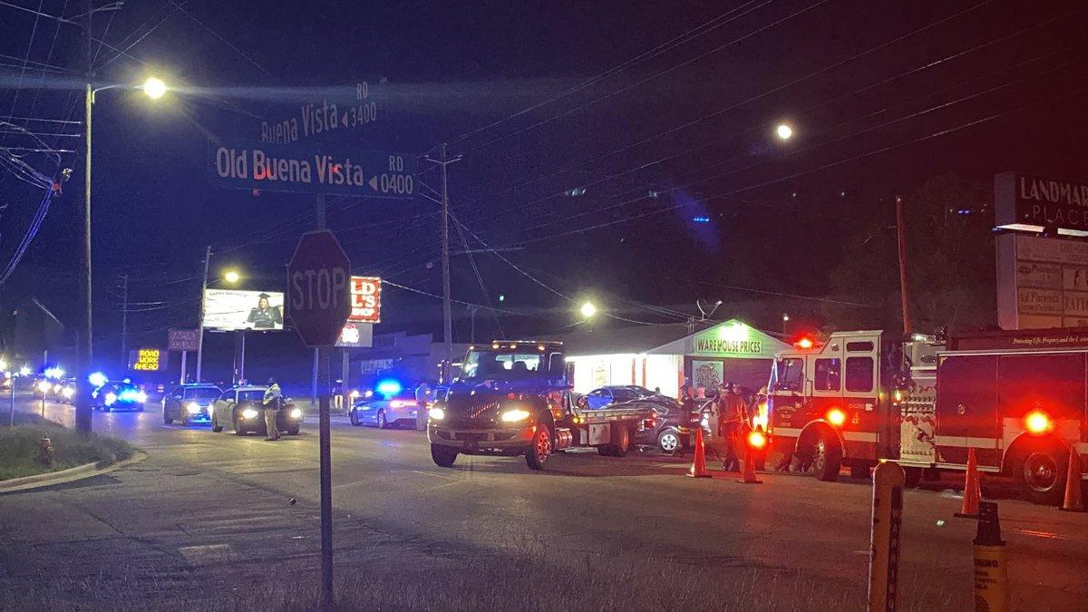 Columbus police on scene of car crash on Buena Vista Rd.
