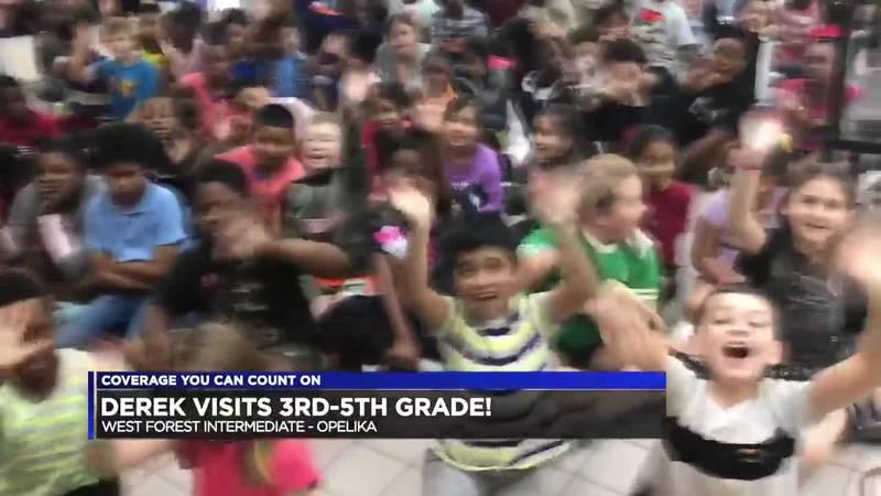 Derek Visits the 3rd-5th Graders at West Forest Intermediate School!
