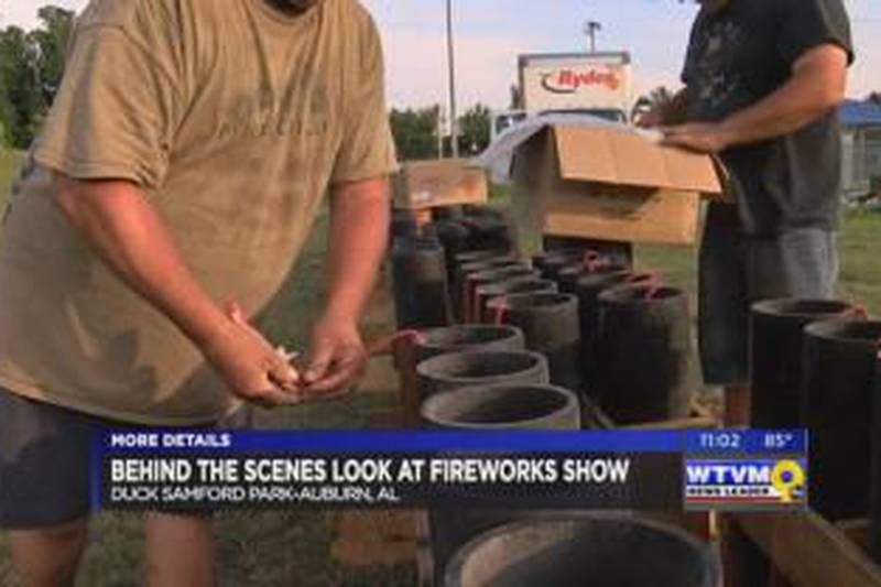 Behind the scenes at the Auburn fireworks show