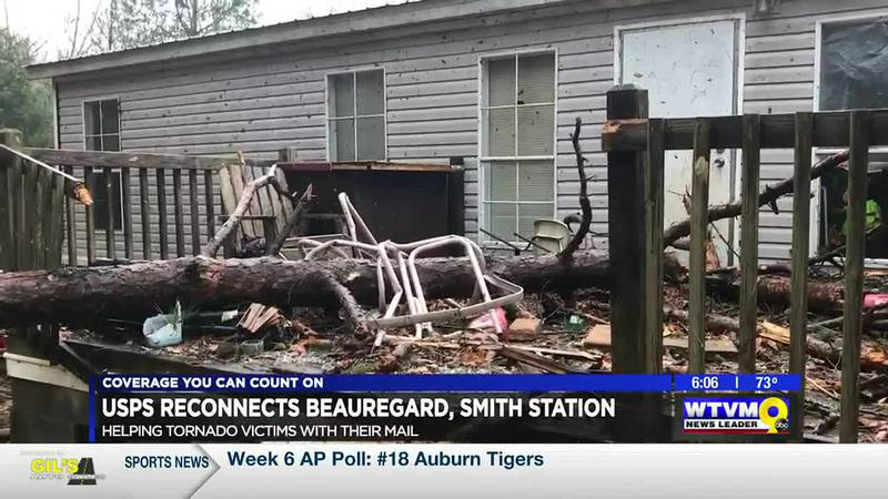 USPS reconnects service for Beauregard, Smiths Station tornado victims