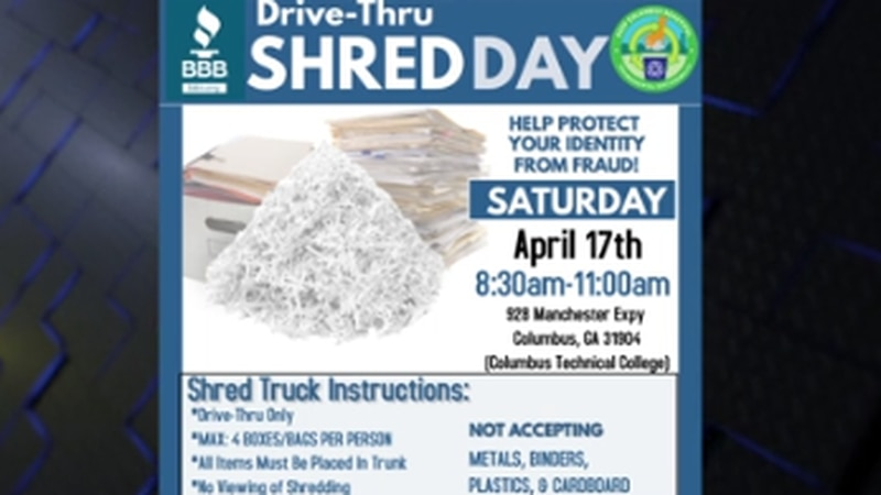 Annual Shred Day to be held at Columbus Technical College