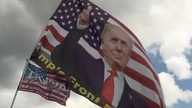 Former President Donald Trump speaking at Georgia Save America rally on Saturday