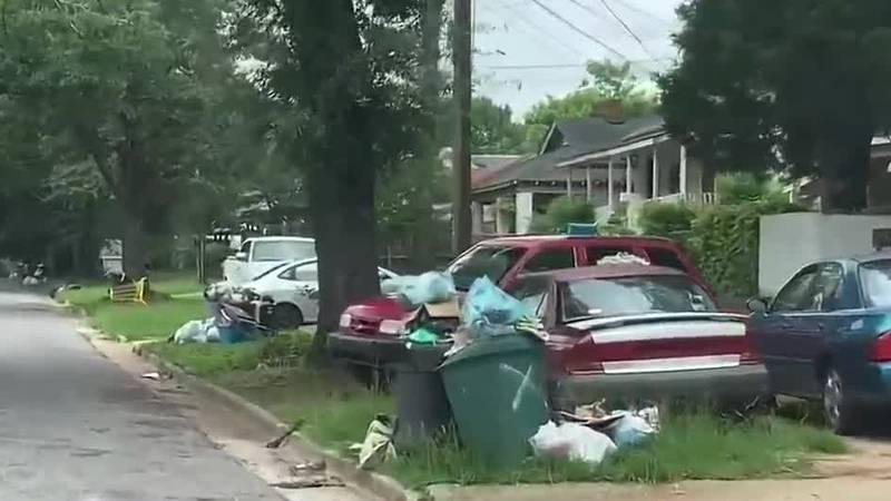 Trash piling up in Columbus