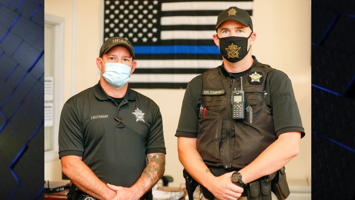 Lieutenant Kyle Senette and Corporal Ryan Campbell came to the aid of a two-year-old boy after...