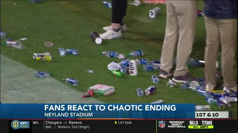 Vol fans react to chaotic ending of Saturday night's game