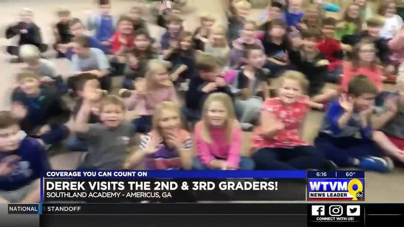 Derek Visits the 2nd & 3rd Graders at Southland Academy in Americus!