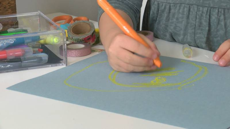 With kids out of school--- the Cameron Art Museum wants to make sure that your kids still can...
