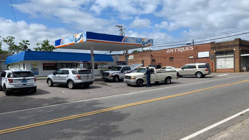 A robbery and homicide investigation is underway at the Gulf gas station on Highway 10 in...