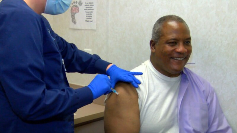 Mayor Lowe received the first dose of the Moderna vaccine Tues.