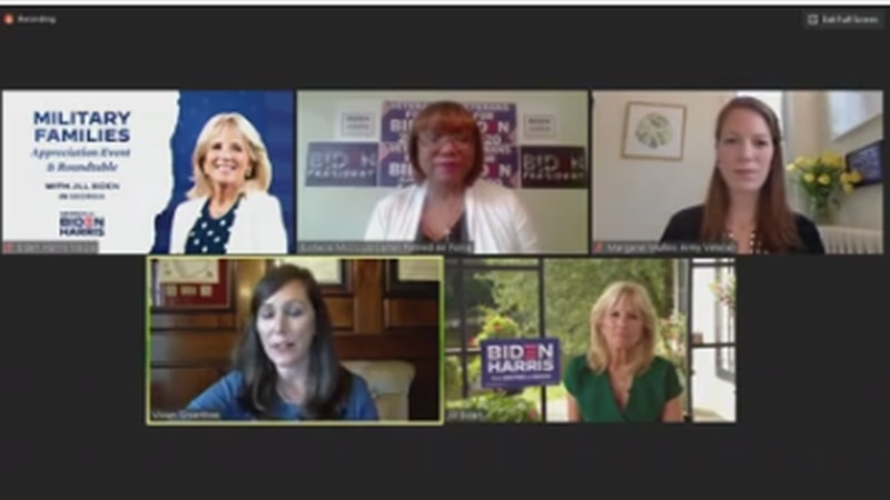 MILITARY MATTERS: Dr. Jill Biden and Ga. military veterans take part in Zoom roundtable