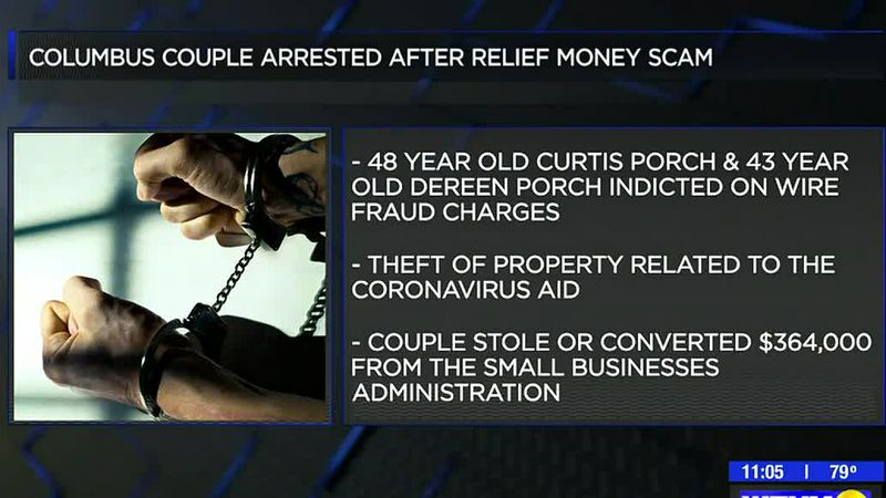 Columbus couple arrested after COVID relief money scam