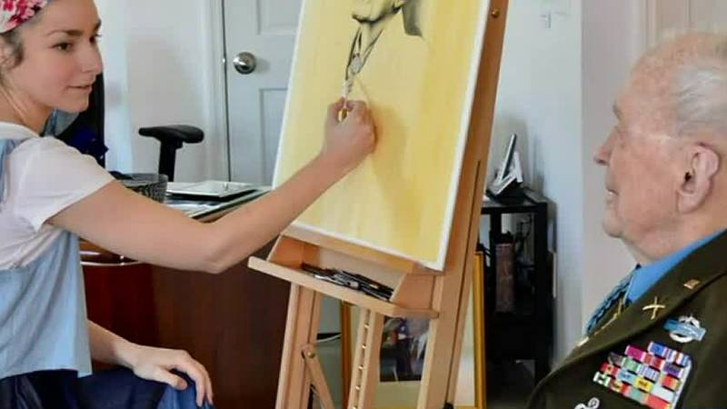 MILITARY MATTERS: Veteran's Daughter Does Portrait of Medal of Honor Recipient & Columbus Colonel