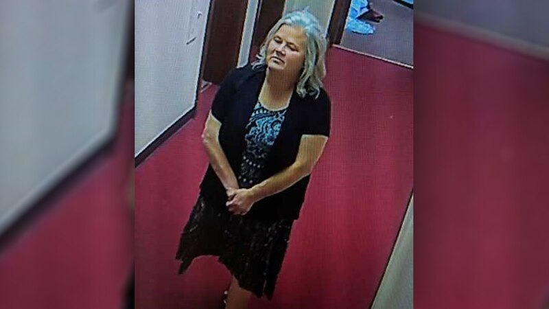 Florence police say this woman crashed a wedding where items turned up missing.