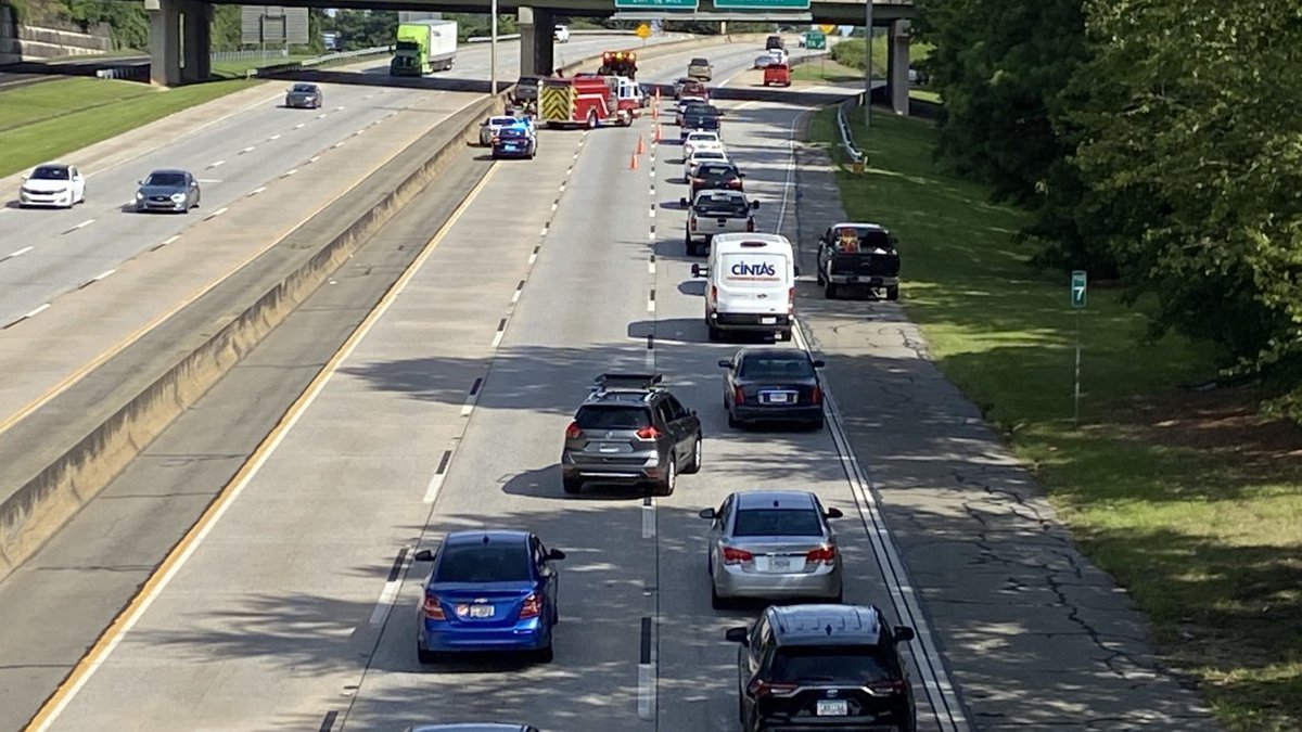 Three-vehicle accident northbound on I-185