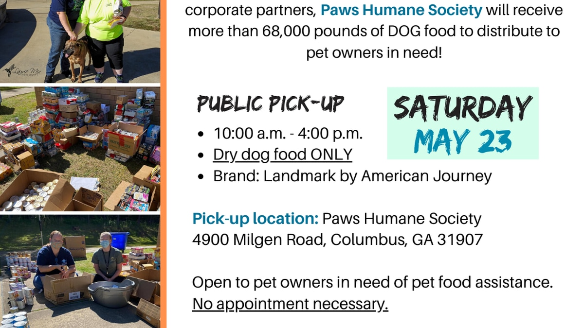 Paws Humane Society is responding to urgent community need by opening a second Pet Food Pantry...