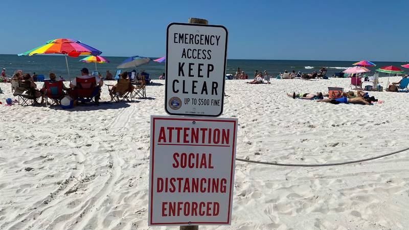 Gulf Shores and Orange Beach are policing the shoreline and encouraging beachgoers to be...