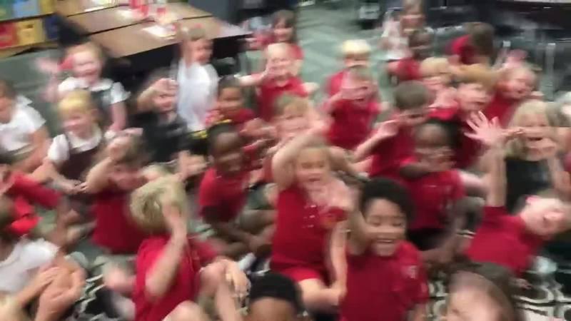 Derek Visits the 1st Graders at St. Luke School!