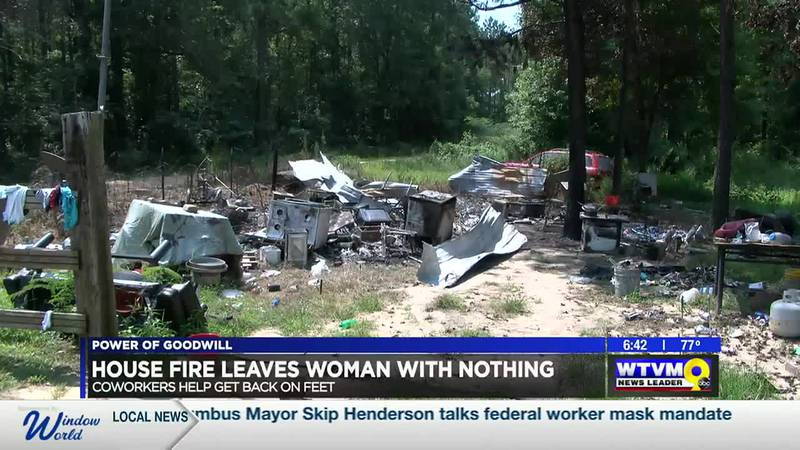 Power of Goodwill: House fire leaves woman with nothing