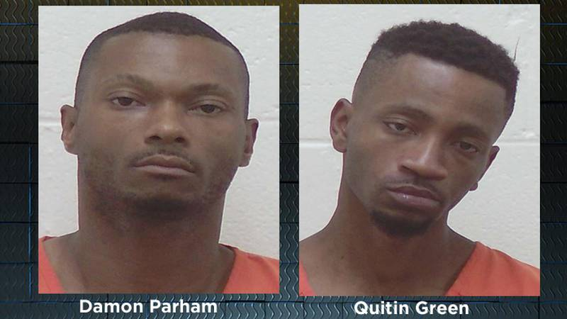 Damon Parham, left, and Quitin Green, right.