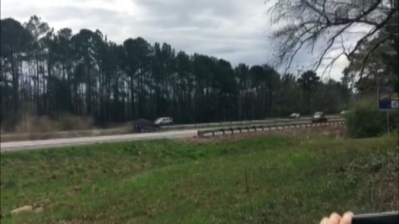 A WSFA 12 News viewer captures video of a vehicle crashing just as President Donald Trump's...