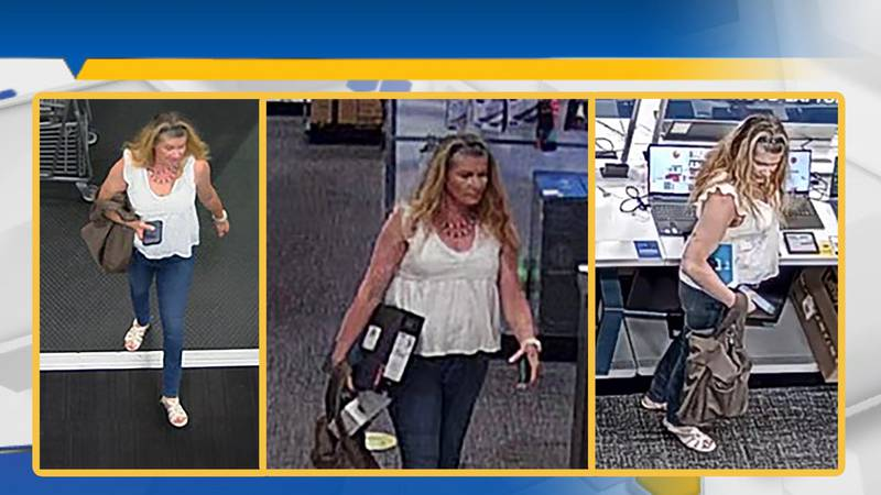 The Opelika Police Department is searching for a woman suspected of stealing a laptop from Best...