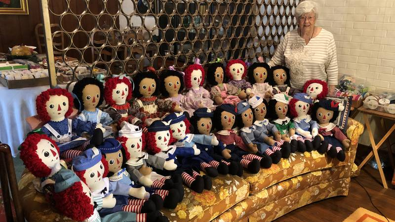 Since 2005, McDavid and nearly 50 other volunteers have hand made 1,200 Raggedy Ann dolls for...
