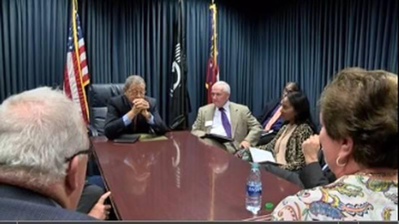 Congressman Sanford Bishop meets with local media