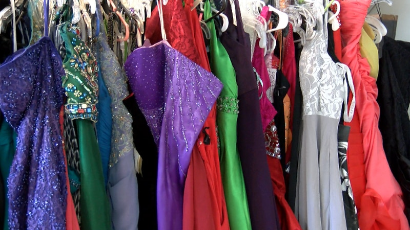 Girls can come to Bliss Bridal in Hattiesburg and get $12 prom dresses.