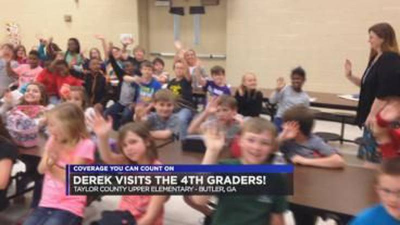 Derek Visits the 4th Graders at Taylor County Upper Elementary!