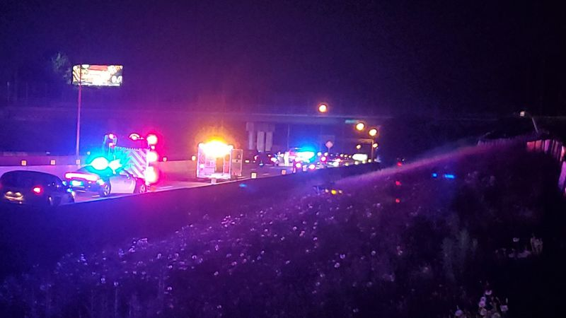 A pedestrian was struck by a vehicle on I-185 in Columbus.
